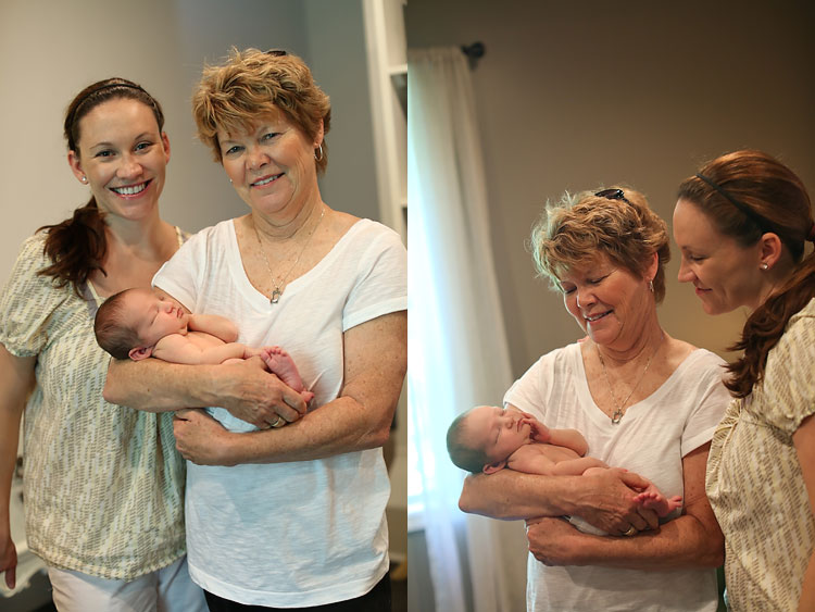 Three Generations Grandma Daugher Baby