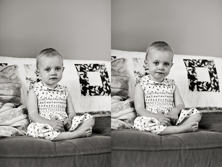 06ToddlerPortrait OnSofa BW