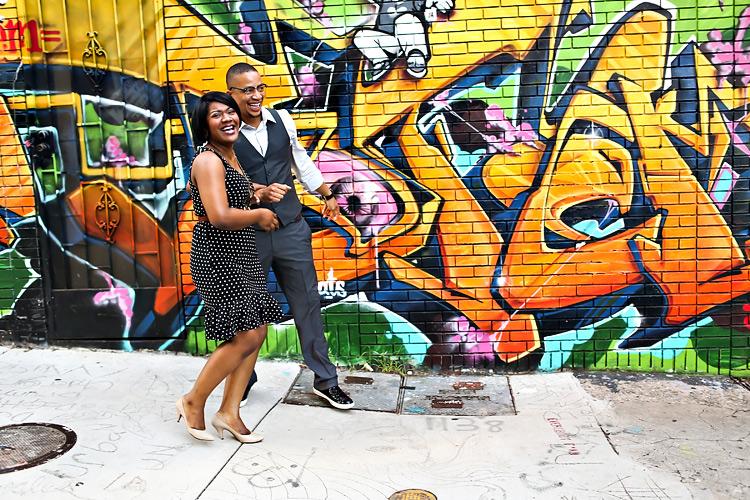 LittleFive Engagement Graffiti3